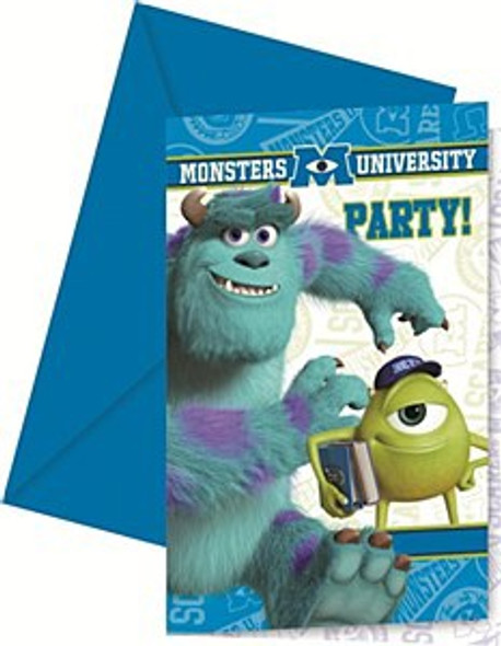 Monster University Invitations