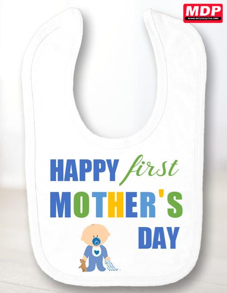 Mother's Day Boy 1st Bib