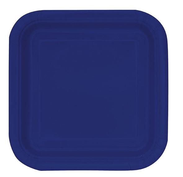 Navy Blue Square Plates