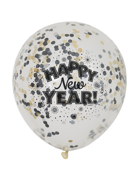 New Year Confetti Balloons