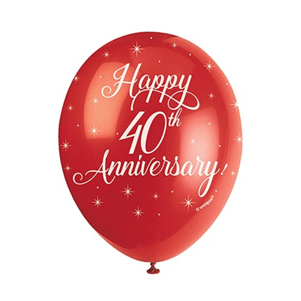 40th Anniversary Balloons