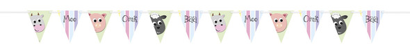 Pastel Farm Party Banner