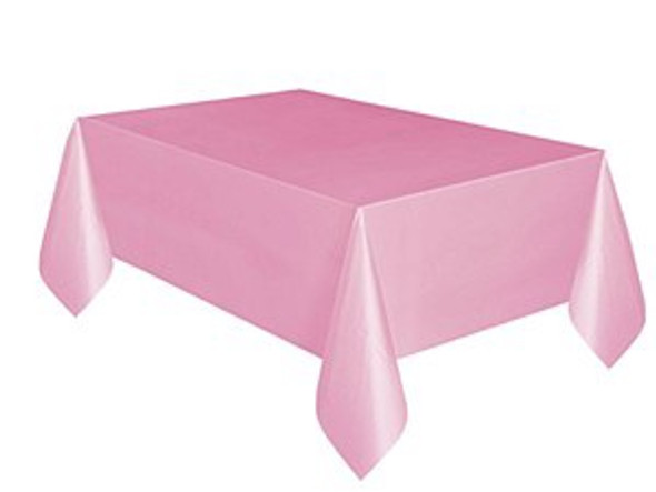 Pastel Pink Plastic Tablecloth