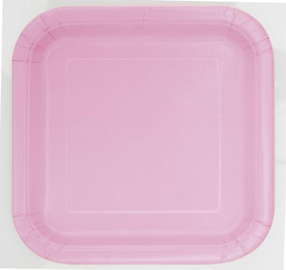 Pastel Pink Square Plates