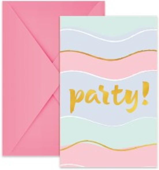 Pastel Party Invitations