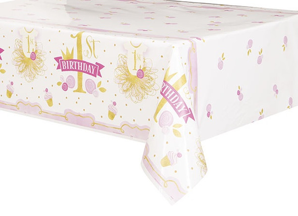 Pink & Gold 1st Tablecover