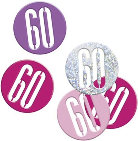 Pink Glitz 60th Confetti