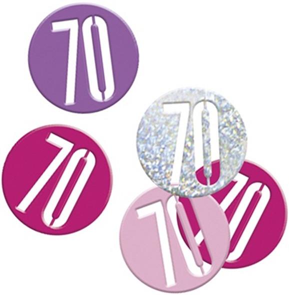 Pink Glitz 70th Confetti