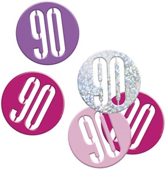Pink Glitz 90th Confetti