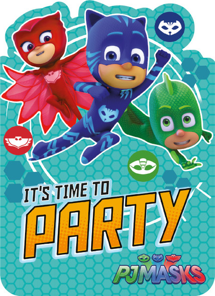 PJ Masks Party Invitations