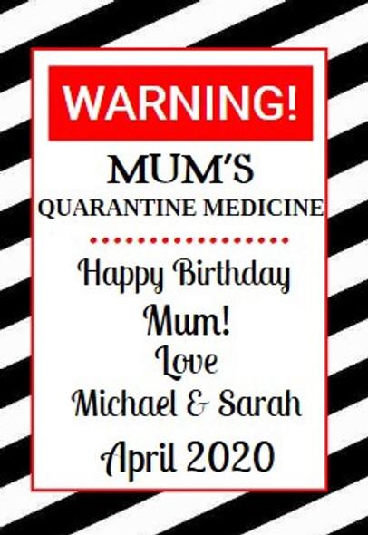4Pk Quarantine Medicine Labels