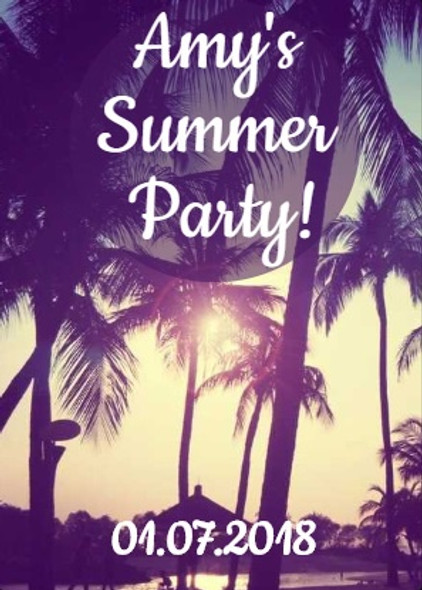 4PK Summer Party Wine Labels