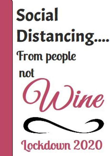 4Pk Social Distance Wine Label