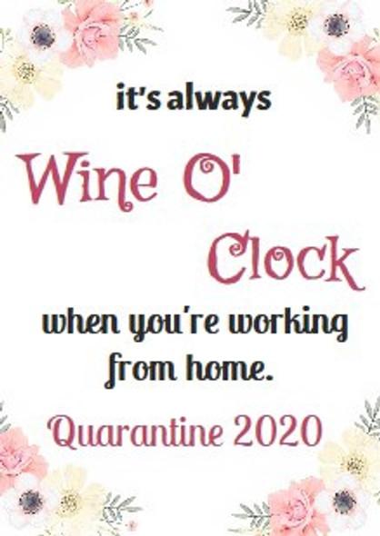 4Pk Wine O Clock Labels