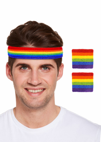 Pride Headband & Wristband Set