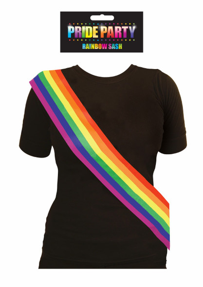 Pride Party Rainbow Sash