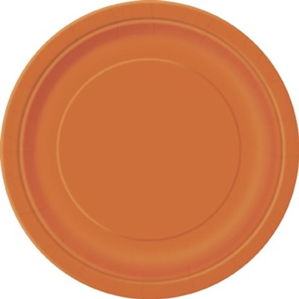 Pumpkin Orange Paper Plates