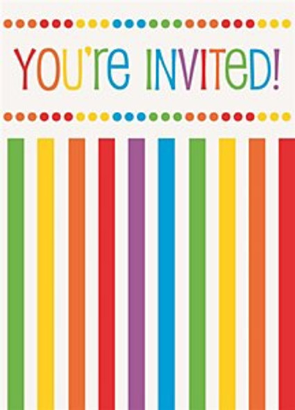 Rainbow Birthday Invitations