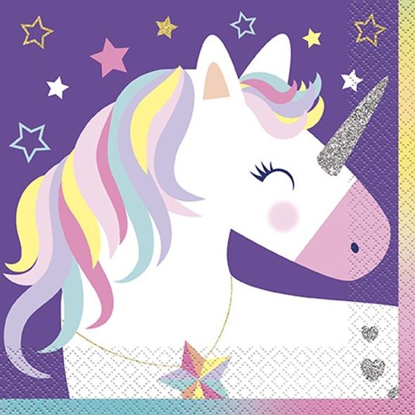 Rainbow Unicorn Napkins