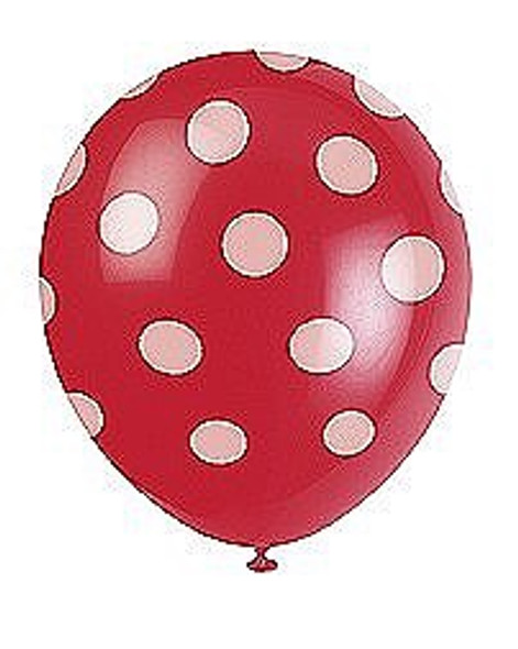 Red Dots Helium Balloons