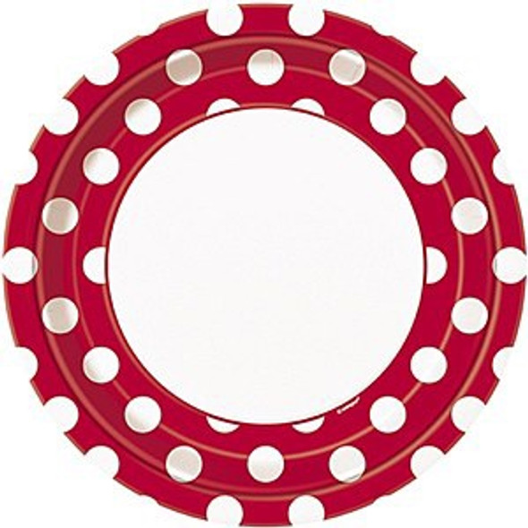 Red Dots Plates