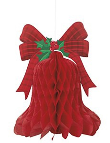 Red Honeycomb Bell Decoration