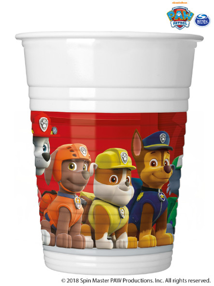 Red Paw Patrol Cups