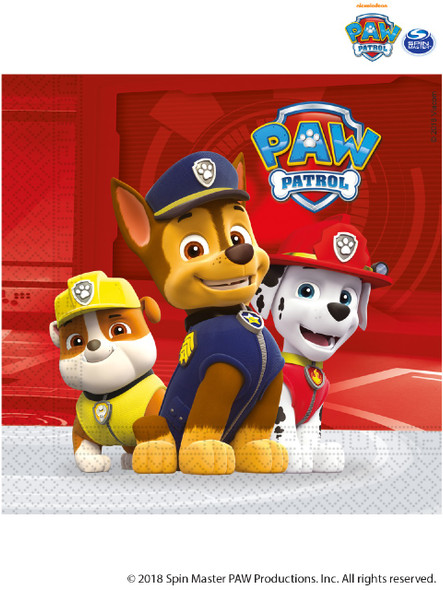 Red Paw Patrol Napkins