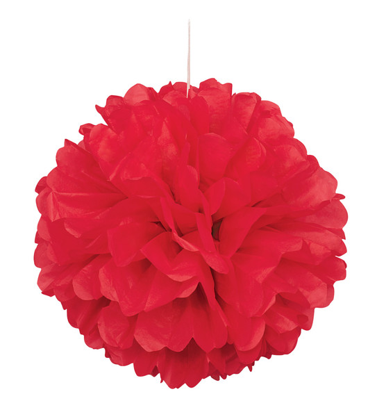 Red Puff Ball Decoration