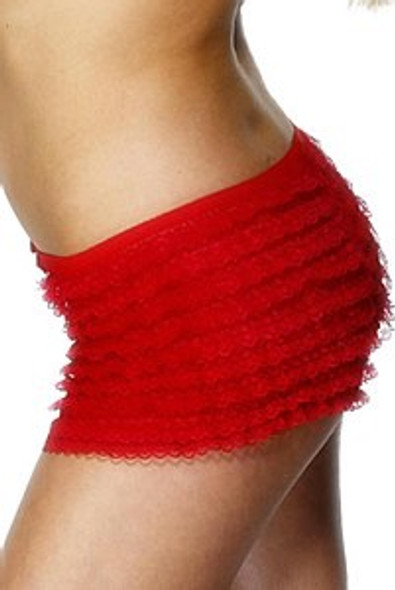 Red Ruffle Lace Panties.
