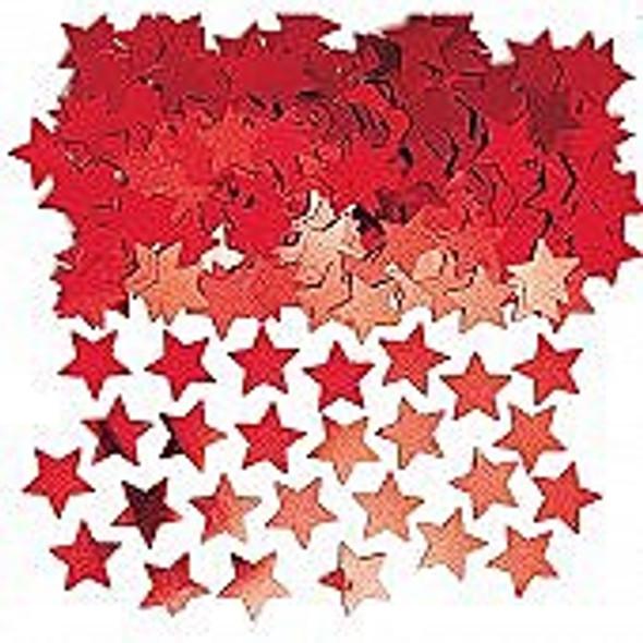 Red Stardust Confetti
