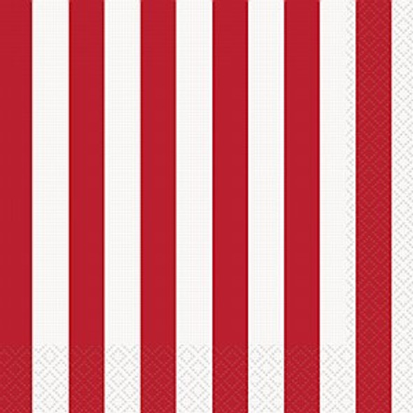 Red Stripe Napkins