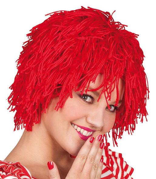 Red Wool Clown Wig