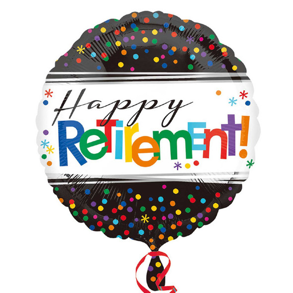 Retirement Dots Foil Balloon