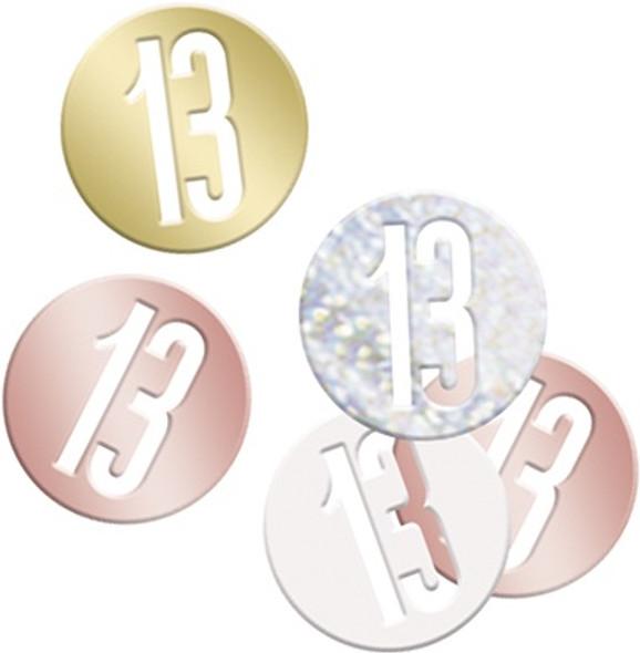 Rose Gold 13th Confetti