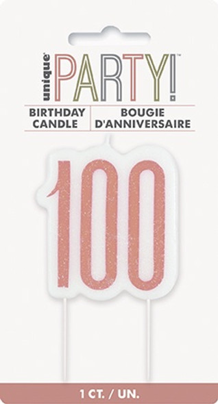 Rose Gold 100th Candle
