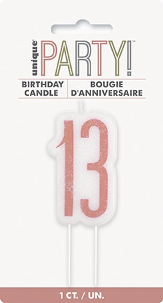 Rose Gold 13th Candle