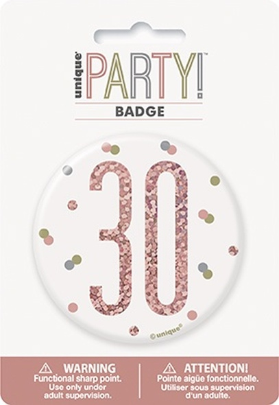 Rose Gold 30th Badge