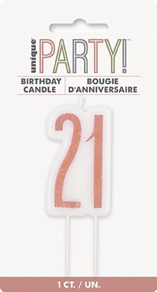Rose Gold 21st Candle