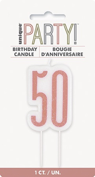 Rose Gold 50th Candle