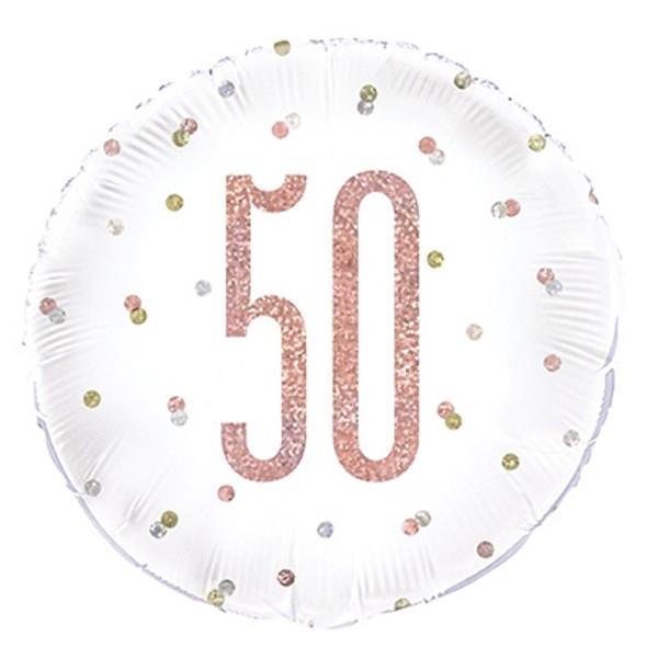 Rose Gold 50th Foil Balloon