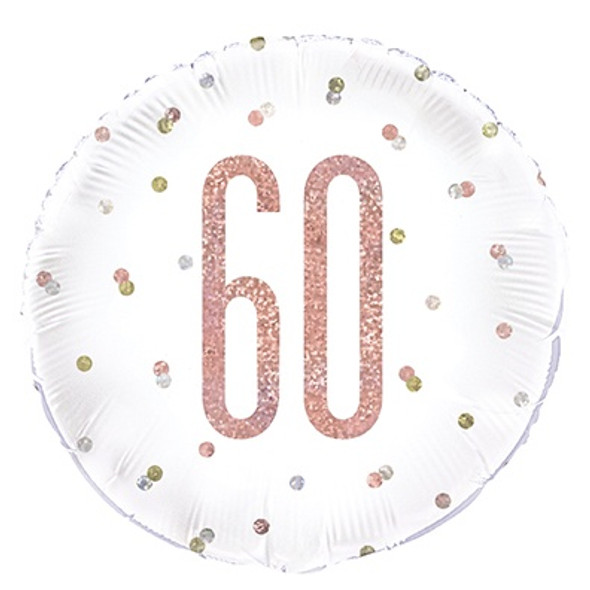 Rose Gold 60th Foil Balloon