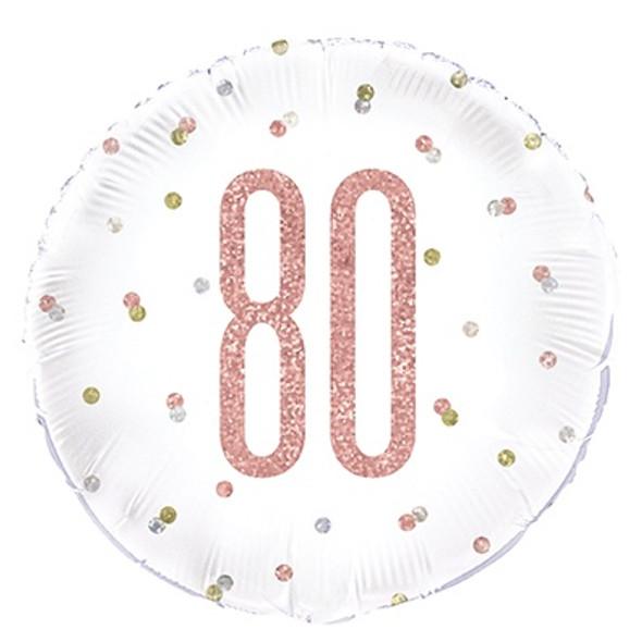 Rose Gold 80th Foil Balloon