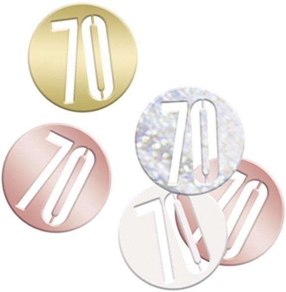 Rose Gold 70th Confetti