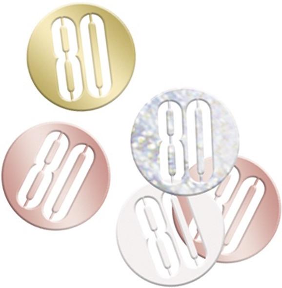 Rose Gold 80th Confetti