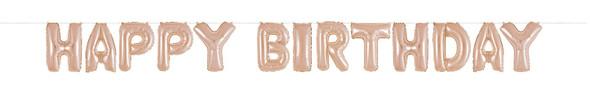 Rose Gold Birthday Balloon Kit