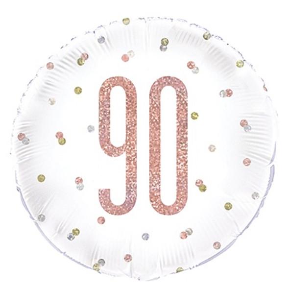 Rose Gold 90th Foil Balloon