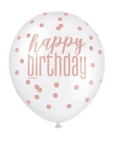 Rose Gold Birthday Balloons