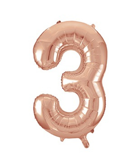 Rose Gold No3 Air Fill Balloon
