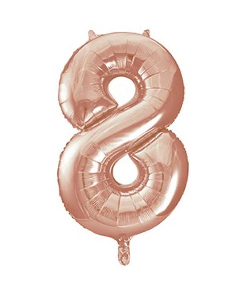 Rose Gold No8 Air Fill Balloon